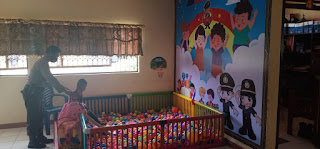Bentuk Pelayanan Publik Terhadap Anak , Kapolsek Maniangpajo Polres Wajo  Sediakan Tempat Bermain