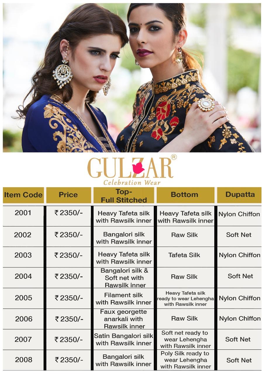 GULZAR-Designer Semi Stitched Heavy Tafeta Silk Salwar Suit