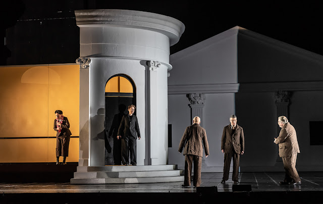 Mozart: La Clemenza di Tito - Nicole Chevalier, Angela Brower, George Freeburn, Joshua Bloom, Jeremy White - Royal Opera House (Photo ROH/Clive Barda)