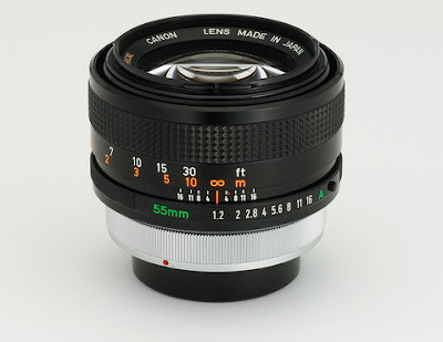Canon FD55mm F1.2AL Lens : First Canon interchangeable lens for SLR cameras