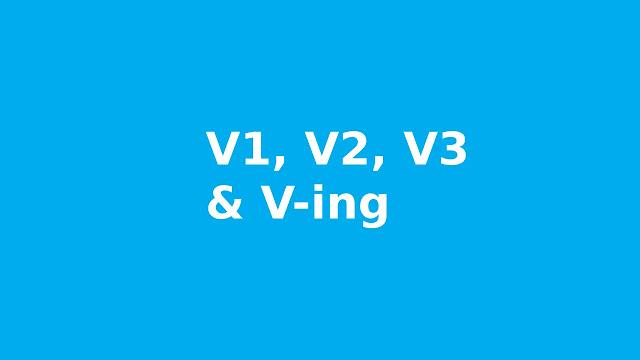 V1, V2, V3, V-ing Bahasa Inggris