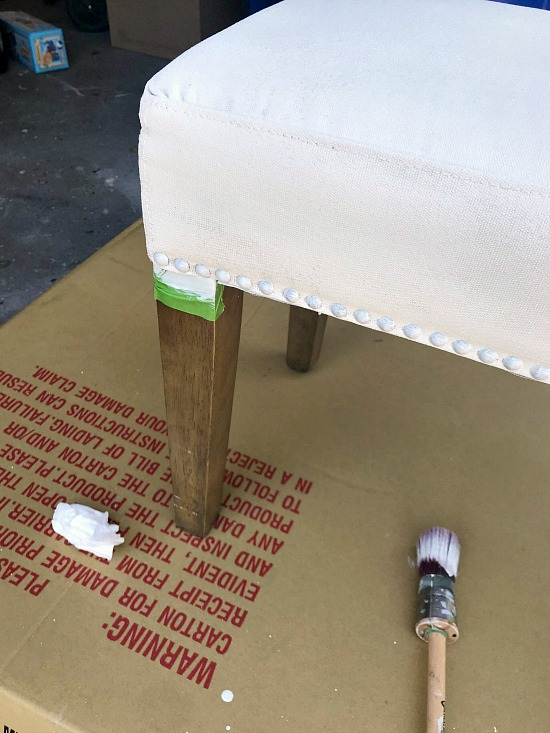 Painting with Raw Silk on Fabric furniture