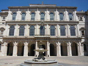 The facade of the Palazzo Barberini in Rome,  designed by the architect Carlo Maderno