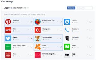 screenshot showing how to remove third-party apps using the new facebook bulk removal tool