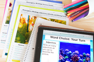 Descriptive writing activities for the high school English and middle school ELA classroom