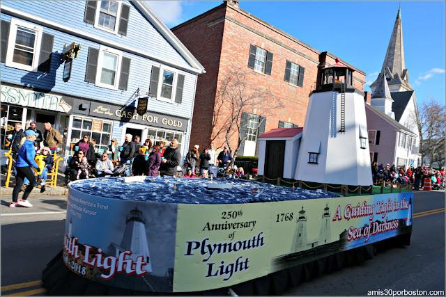 Faro de Plymouth en el Desfile de Acción de Gracias de Plymouth