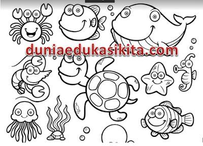 Download Gambar Mewarnai Untuk Anak TK dan SD 32 Halaman