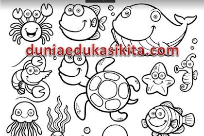 Download Gambar Mewarnai Untuk Anak PAUD, TK,  dan SD 32 Halaman