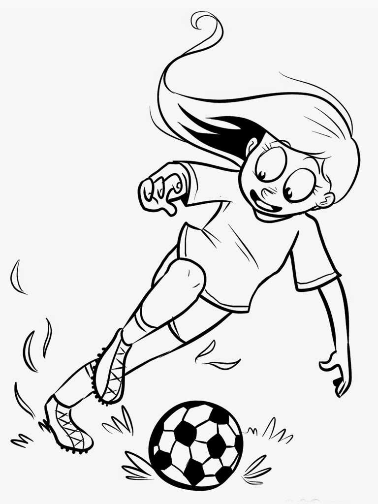 girl soccer player coloring pages