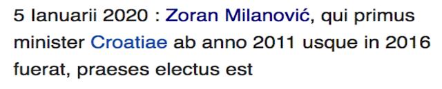 Wikipedia Croation Election