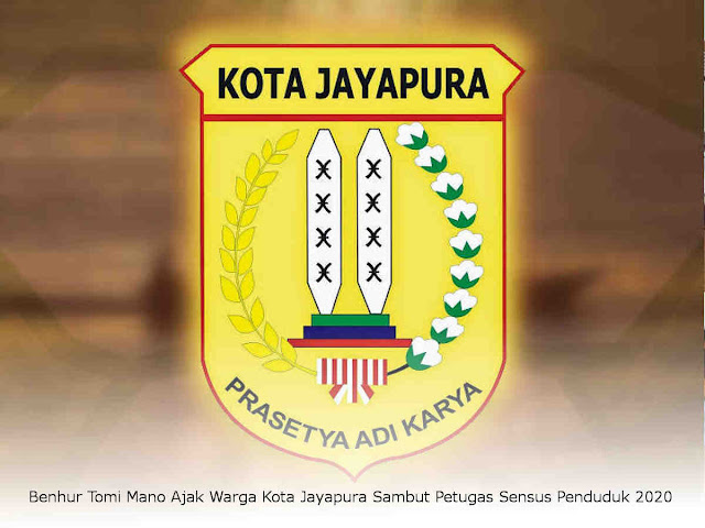 Benhur Tomi Mano Ajak Warga Kota Jayapura Sambut Petugas Sensus Penduduk 2020