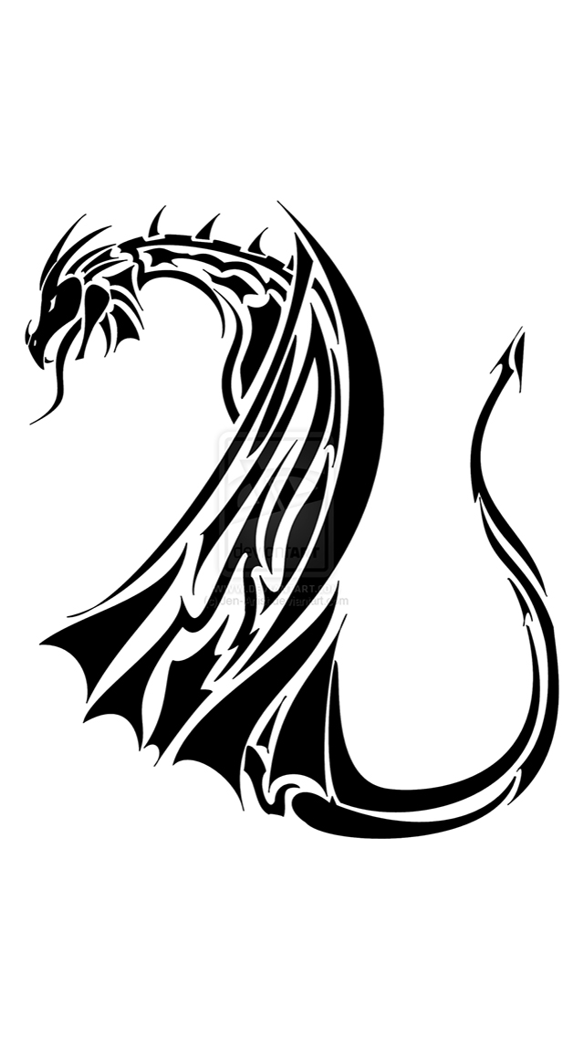 Iphone 5 Wallpapers Gallery Dragon Tribal Tattoo Iphone 5