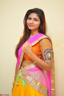 Lucky Sree in dasling Pink Saree and Orange Choli DSC 0375 1600x1063.JPG