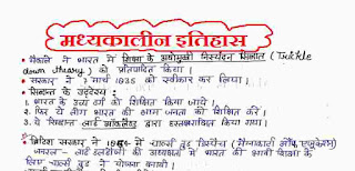 History Of Modern India Notes In Hindi PDF