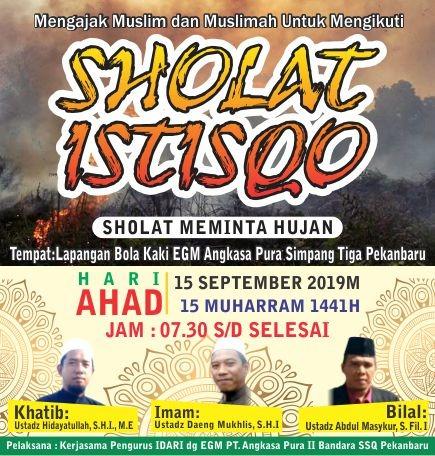 Sholat minta hujan Riau