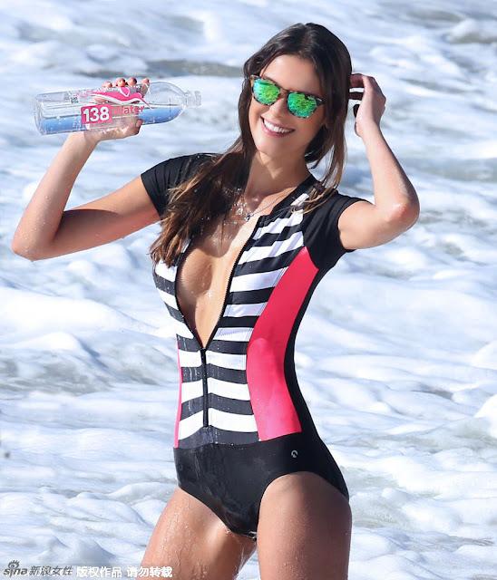 Brazilian Supermodel Turned Surf Girl Making A Large Seaside