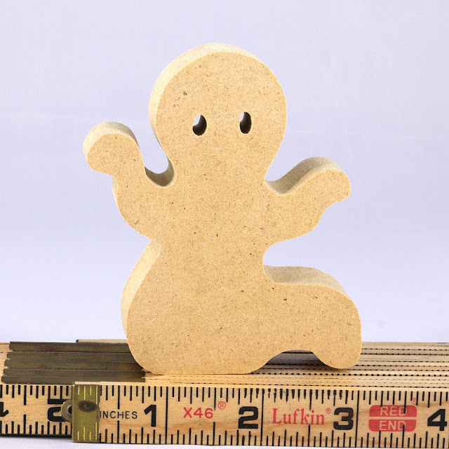 Handmade Wooden Toy Halloween Ghost Cutout Silhouette