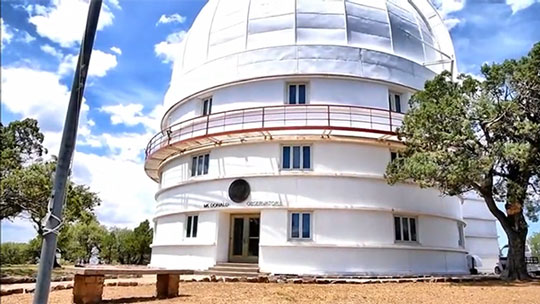 One of the observatory domes (Source: McDonald Observatory)
