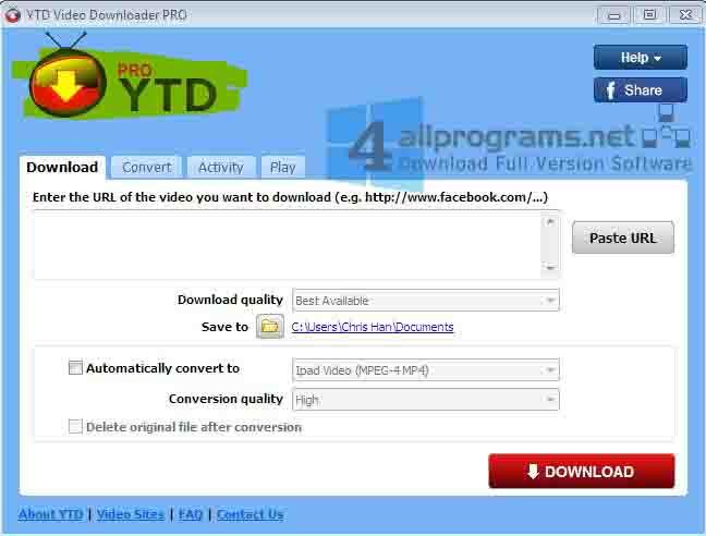 YTD Video Downloader PRO v5.7.0.1 Full Crack Final