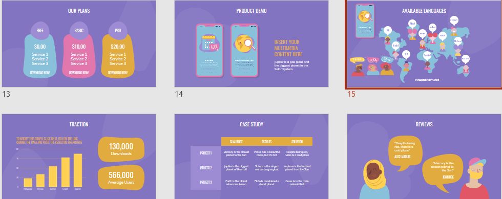 Language Learning Free PowerPoint Templates
