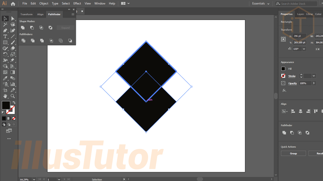 How To Make A Logo Symbol Heart With The Shape Tool In