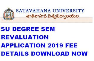 Manabadi SU Degree Sem Revaluation Application 2019 Download 1