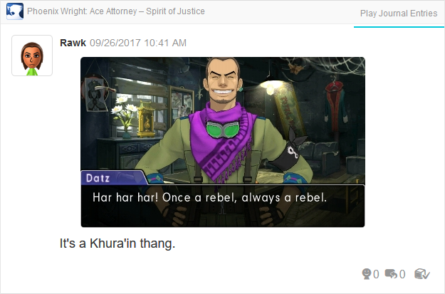 Phoenix Wright Ace Attorney Spirit of Justice Datz Are'bal once a rebel always