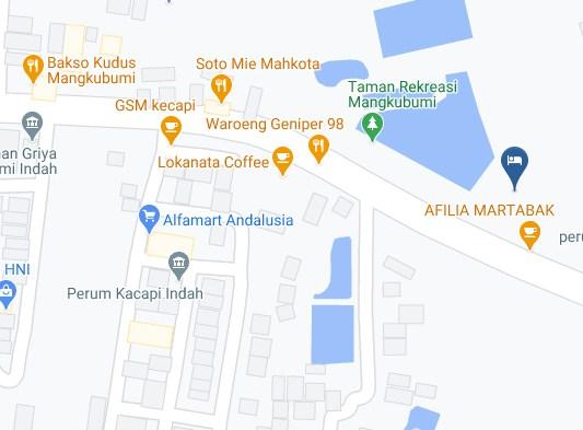 Map Letak Hotel Taman Mangkubumi Indah Tasikmalaya