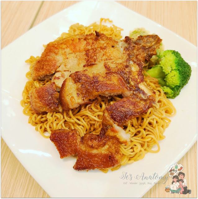 Honolulu HK Café Hong Kong Style Dried Noodle with Pork Chop
