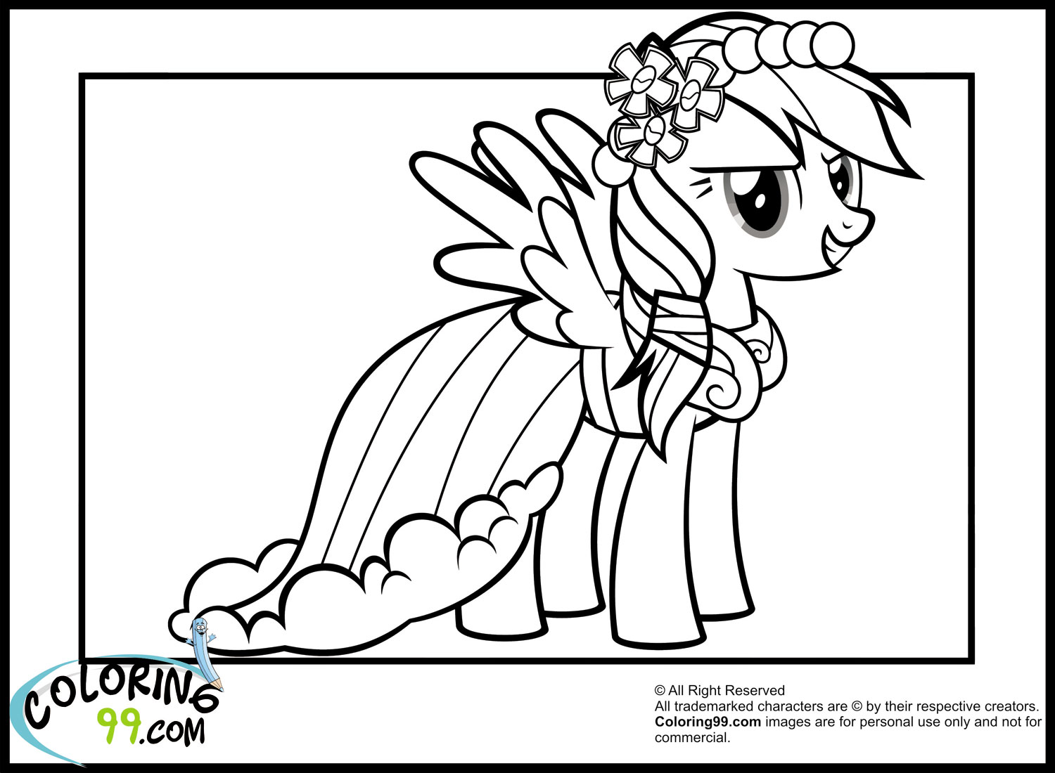 Rainbow Dash Coloring Pages Minister