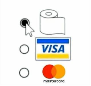 Formas de pago, con rollo de papel higiénico incluido