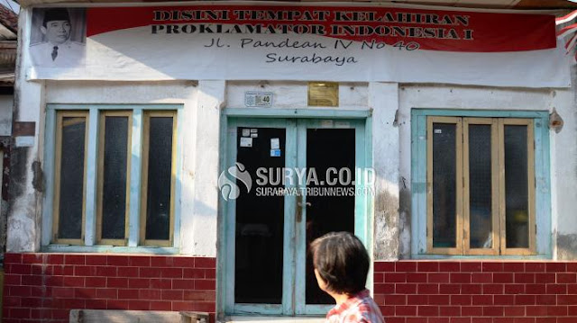 Pemkot Surabaya Mengecat Rumah Kelahiran Bung Karno, Pemilik Bersikap Seperti Ini