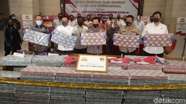 Penampakan Duit Rp 56 Miliar Hasil Kejahatan COVID-19, 3 Pelaku Ditangkap!!