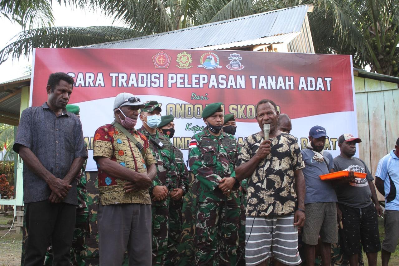 Warga Kampung Skofro Hibahkan Tanah Adat seluas 21 Hektar Kepada TNI