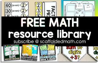 Free math resource library - scaffoldedmath.com