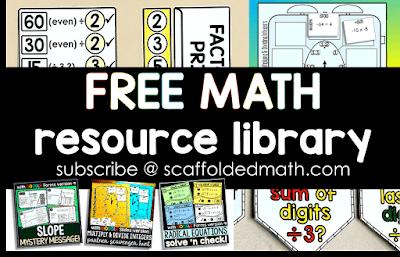 Free math resource library
