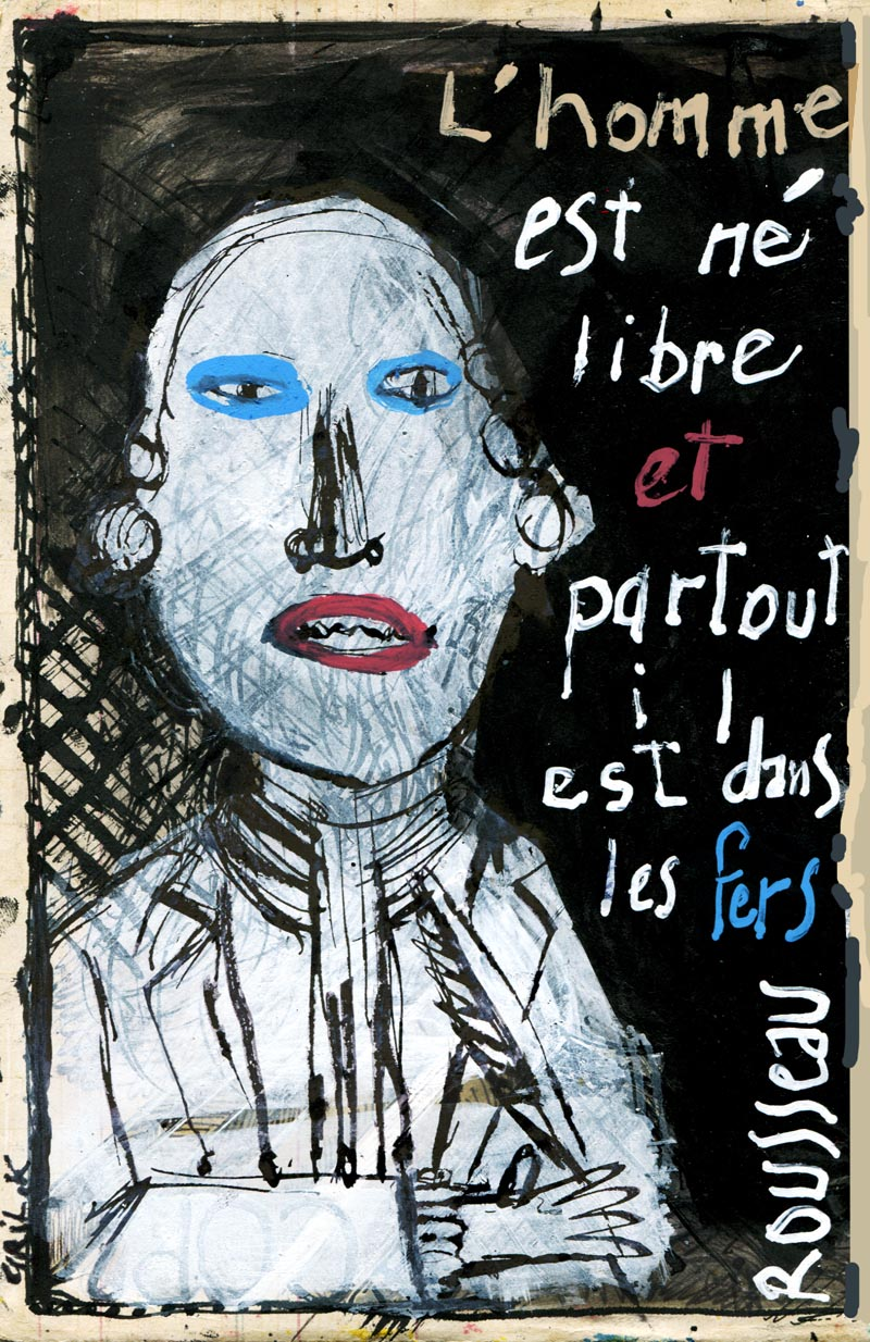 L'homme Est Né Libre Et Partout Il Est Dans Les Fers : l'homme, libre, partout, L'art, Maçon:, ROUSSEAU, PHILOSOPHE