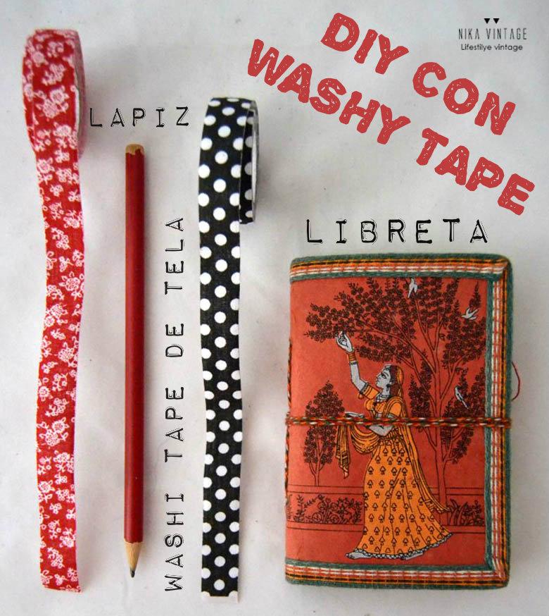 diy, tutorial, washi tape, cinta adhesiva, hazlo tu mismo, cambio, libreta