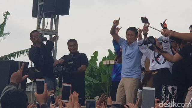 Kampanye di Bekasi, Sandiaga Janji Turunkan Harga BBM dan Listrik