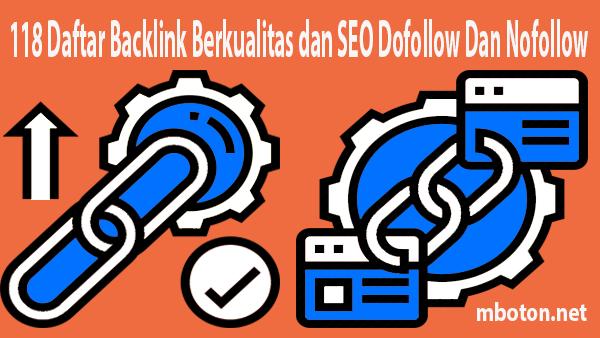 Daftar backlink anda bisa gunakan untuk meningkatkan rangking blog website