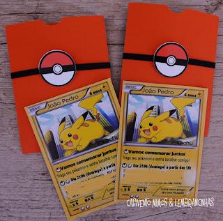 convite Pokemon