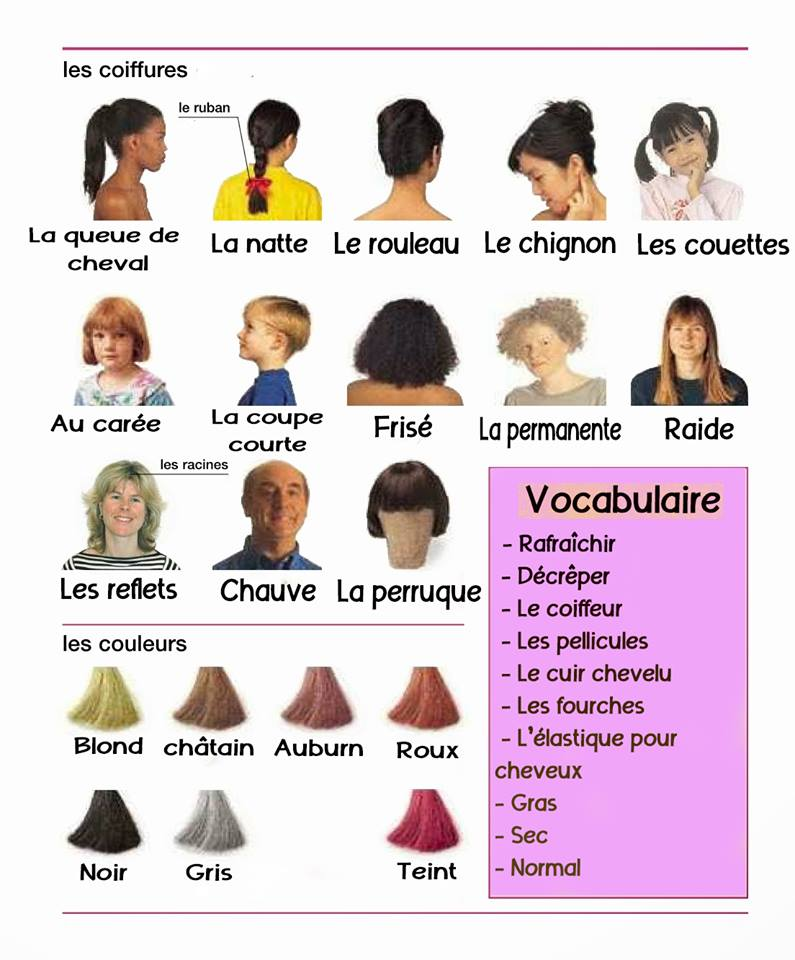 vocabulaire illustr u00e9 pour d u00e9crire une personne en fran u00e7ais