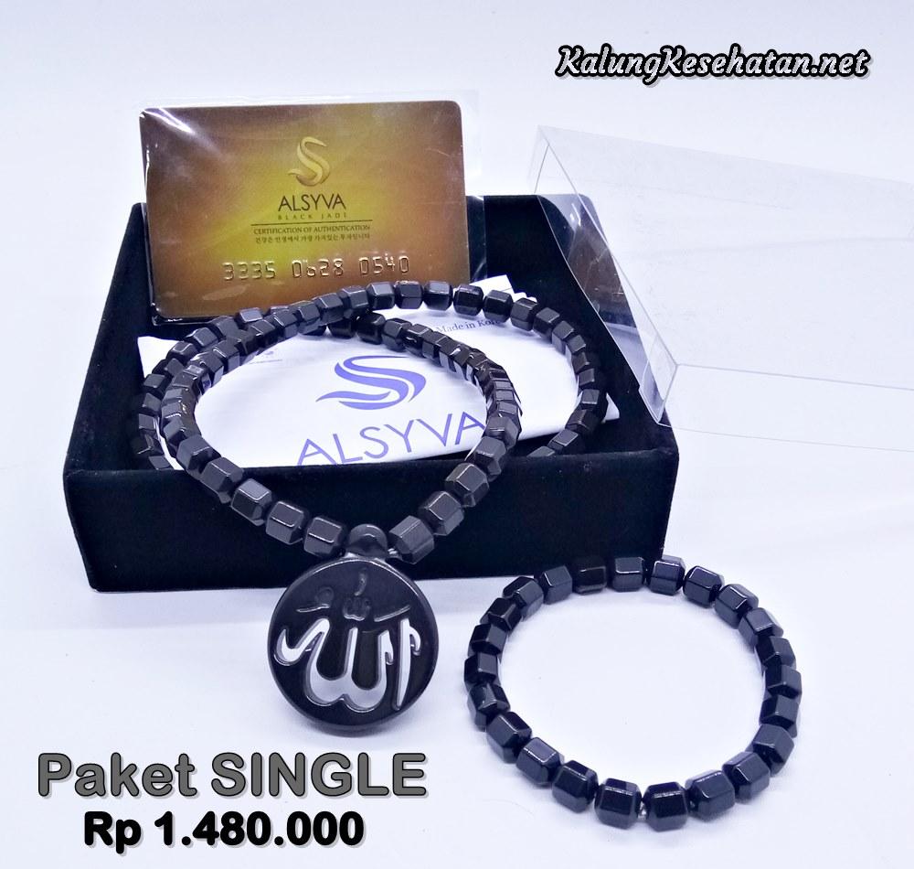 Kalung Kesehatan Black Jade Ginsamyong Asli Original Murah Alsyva Jaminan Produk