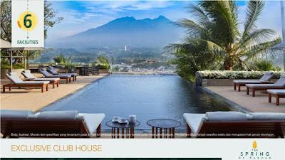 Premium club house dengan view gunung salak