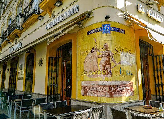 Restaurante no Centro Histórico de Sevilha