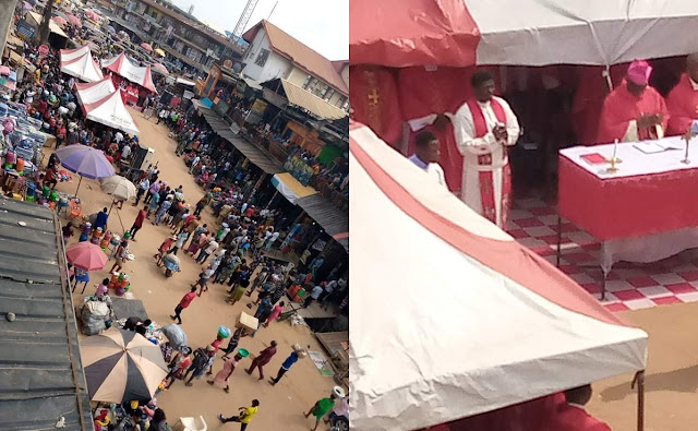 Catholic Priests Support Ochanja Fire Victims With ₦25m & Another ₦100m (Photos)
