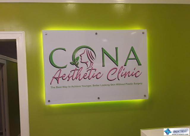 Acrylic Logo Signage - Cona Aesthetic Clinic
