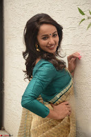 Tejaswi Madivada looks super cute in Saree at V care fund raising event COLORS ~  Exclusive 047.JPG