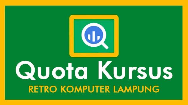Kuota Kursus Komputer Lampung - Retro