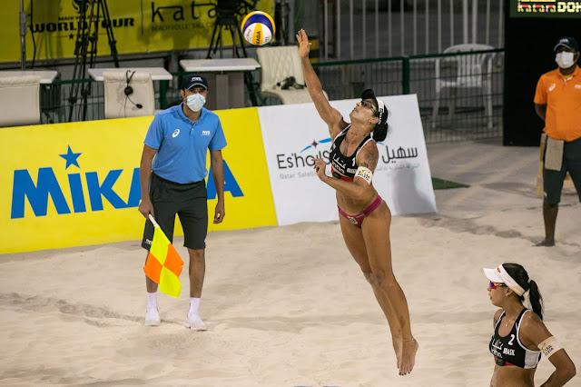 Ágatha e Duda na semifinal do Katara Cup de vôlei de praia